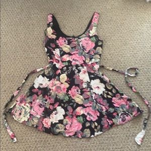 Forever 21 Floral Print🌸 Skater Mini Dress Sz S/P